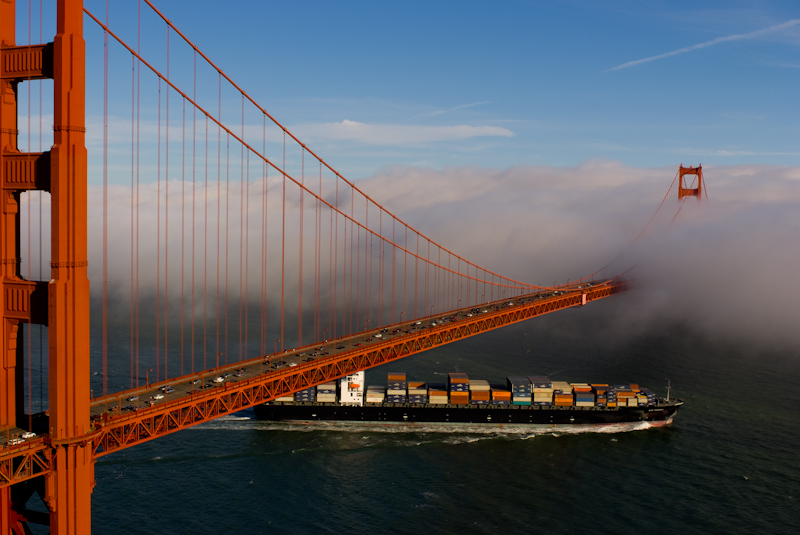 Golden Gate with Freighter 2