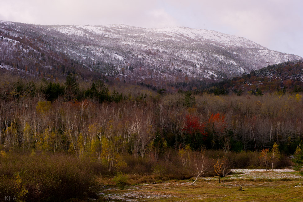 Champlain Mountain with Snow 2