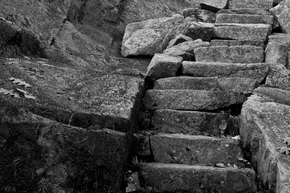 Stairs on Dorr Mountain 2