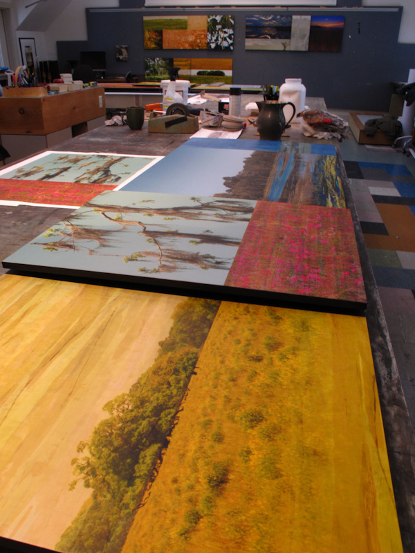 Panels Being Assembled in Studio